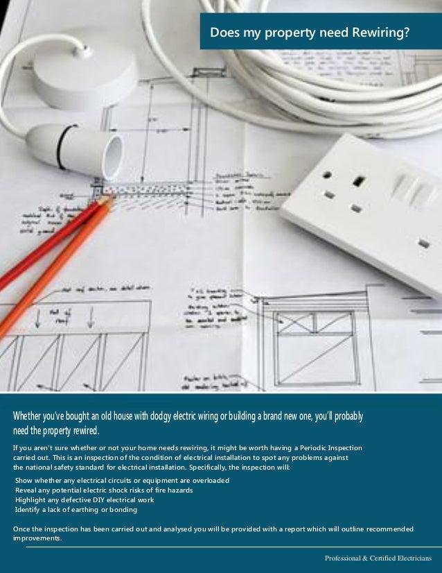 Property Rewiring Brochure from K&L Electrical Warrington Electricians
