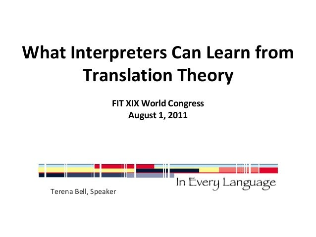 What Interpreters Can Learn from Translation Theory