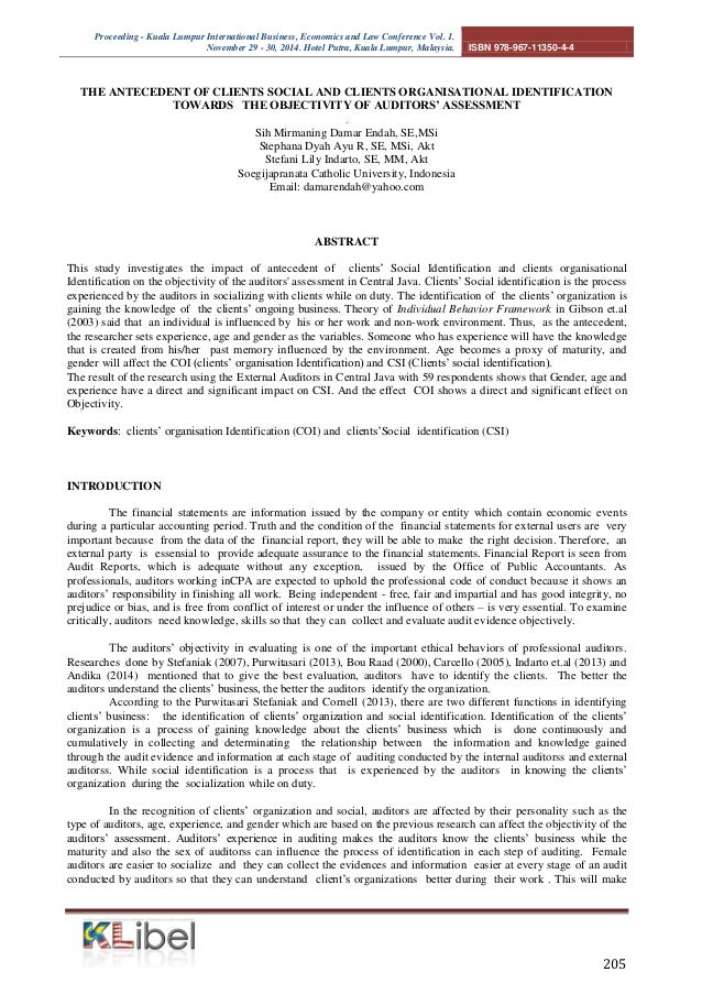 Proceeding - Kuala Lumpur International Business, Economics and Law Conference Vol. 1.  November 29 - 30, 2014. Hotel Putr...