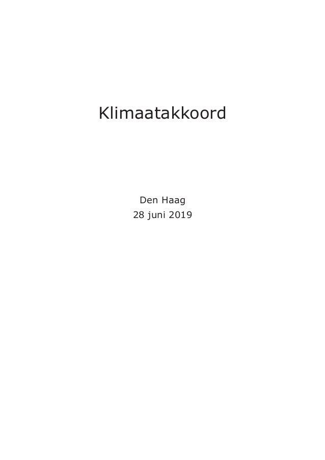 Klimaatakkoord Den Haag 28 juni 2019