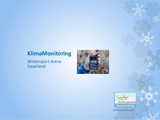 Wetterportal Sauerland KlimaMonitoring Wintersport Arena Sauerland
