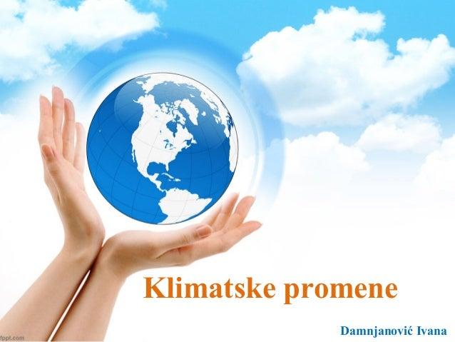 Klimatske promene Damnjanović Ivana