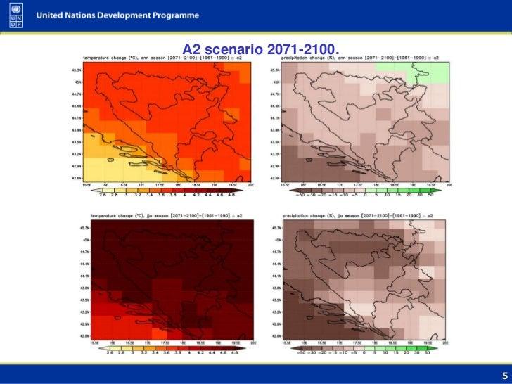A2 scenario 2071-2100.                         5