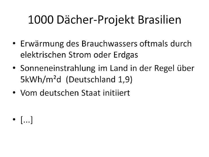 1000 Dächer-Projekt Brasilien<br />