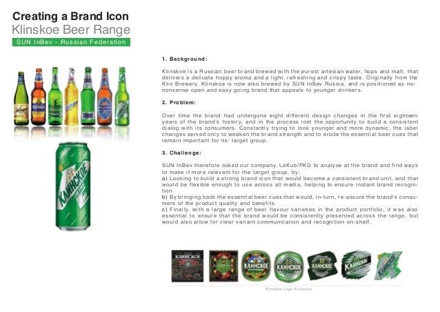 SunInBev Klinskoe beer Russia Slide 2