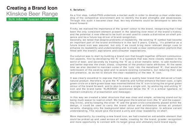 SunInBev Klinskoe beer Russia Slide 3
