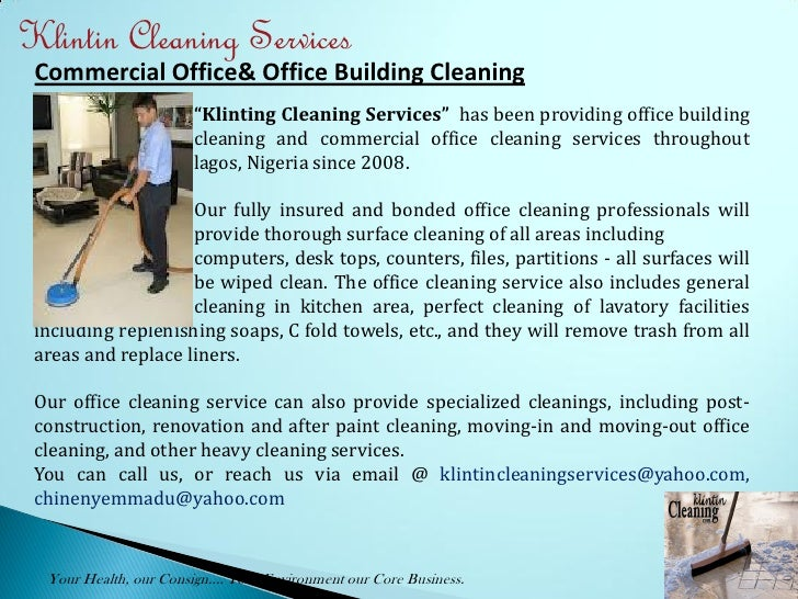 Green Cleaning Services - PowerPoint PPT Presentation