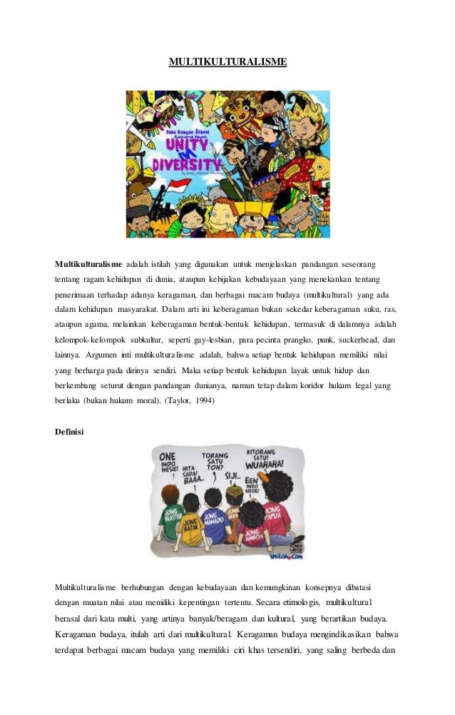 Kliping Multikulturalisme Dan Multikultural