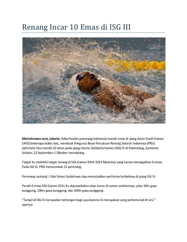 Kliping olahraga air
