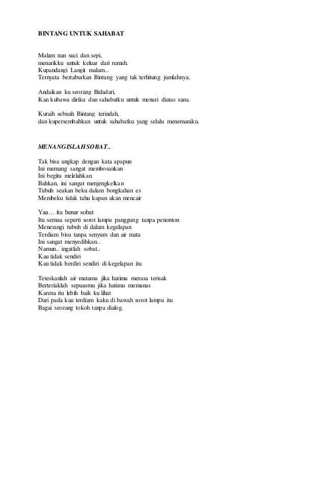 Kliping Puisi Pantun Dongeng Dan Contoh