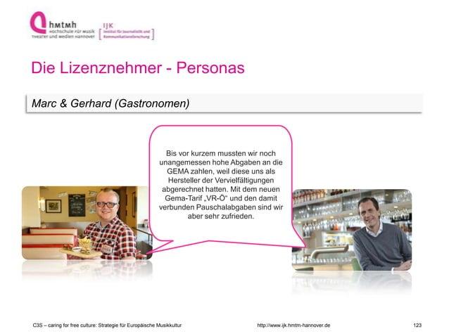 http://www.ijk.hmtm-hannover.de Die Lizenznehmer - Personas Marc & Gerhard (Gastronomen) C3S – caring for free culture: St...