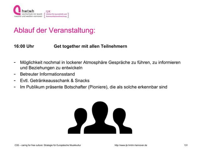 http://www.ijk.hmtm-hannover.de Ablauf der Veranstaltung: 16:00 Uhr Get together mit allen Teilnehmern - Möglichkeit nochm...