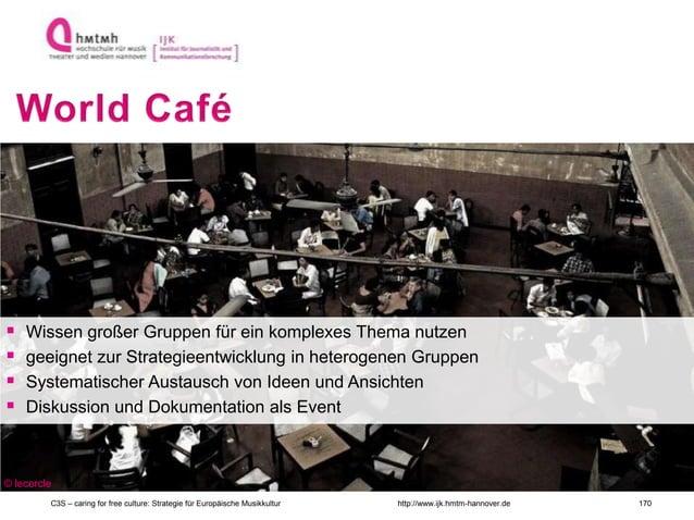 http://www.ijk.hmtm-hannover.de  Wissen großer Gruppen für ein komplexes Thema nutzen  geeignet zur Strategieentwicklung...