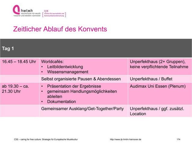 http://www.ijk.hmtm-hannover.de Zeitlicher Ablauf des Konvents Raum 2 Tag 1 16.45 – 18.45 Uhr Worldcafés: • Leitbildentwic...