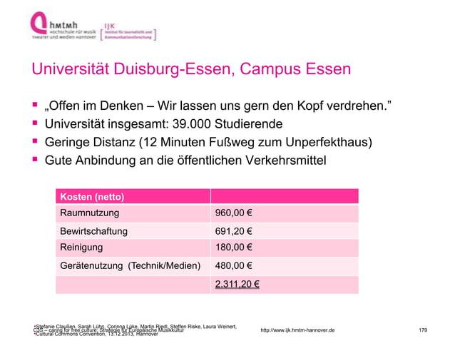 """http://www.ijk.hmtm-hannover.de Universität Duisburg-Essen, Campus Essen  """"Offen im Denken – Wir lassen uns gern den Kopf..."""