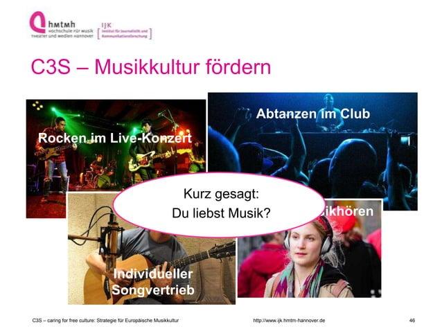 http://www.ijk.hmtm-hannover.de C3S – Musikkultur fördern C3S – caring for free culture: Strategie für Europäische Musikku...