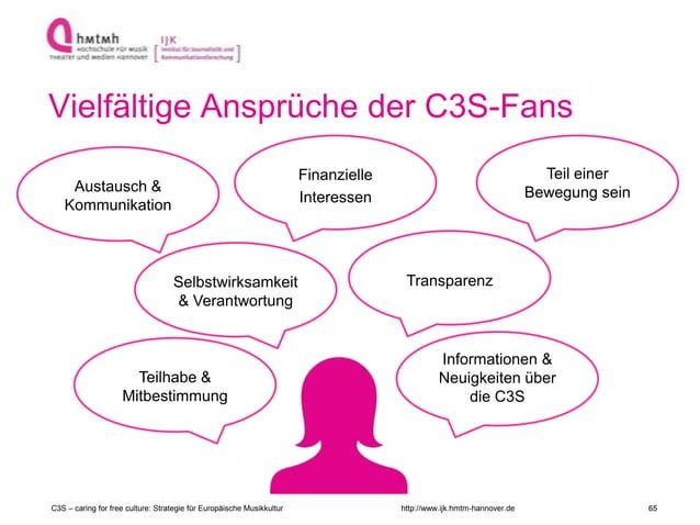 http://www.ijk.hmtm-hannover.de Vielfältige Ansprüche der C3S-Fans C3S – caring for free culture: Strategie für Europäisch...