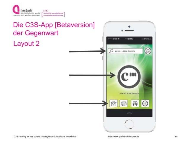 http://www.ijk.hmtm-hannover.de Die C3S-App [Betaversion] der Gegenwart Layout 2 C3S – caring for free culture: Strategie ...