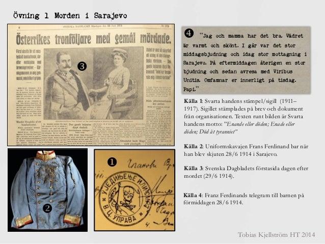 Källövningar om morden i sarajevo 1914