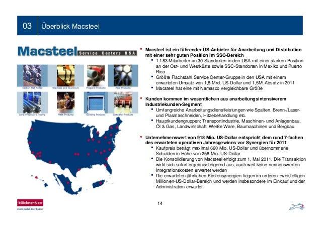 03 Überblick Macsteel 14 • Macsteel ist ein führender US-Anbieter für Anarbeitung und Distribution mit einer sehr guten Po...