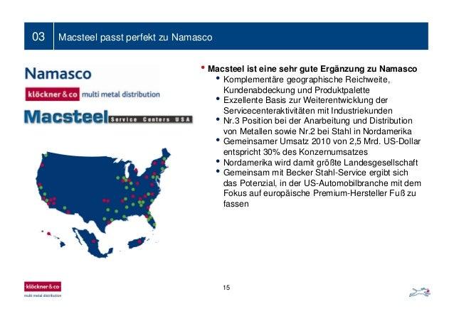03 Macsteel passt perfekt zu Namasco • Macsteel ist eine sehr gute Ergänzung zu Namasco • Komplementäre geographische Reic...