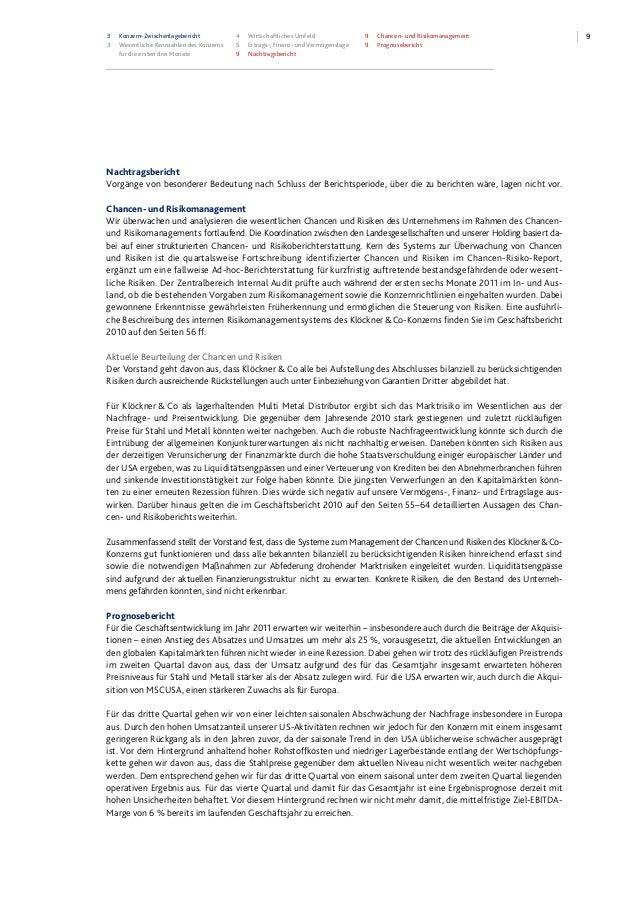 93 Konzern-Zwischenlagebericht 3 Wesentliche Kennzahlen des Konzerns für die ersten drei Monate 4 Wirtschaftliches Umfeld ...