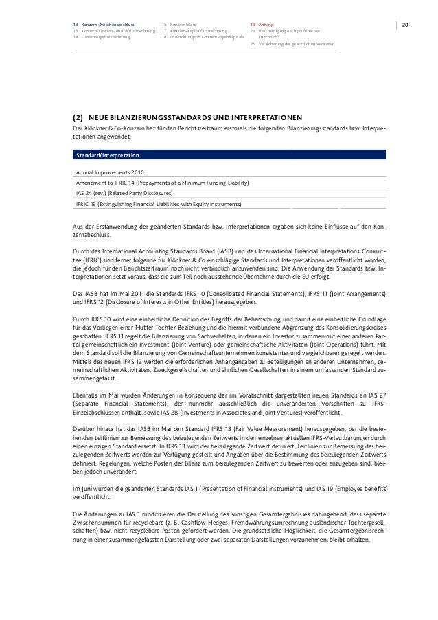 2013 Konzern-Zwischenabschluss 13 Konzern-Gewinn- und Verlustrechnung 14 Gesamtergebnisrechnung 15 Konzernbilanz 17 Konzer...