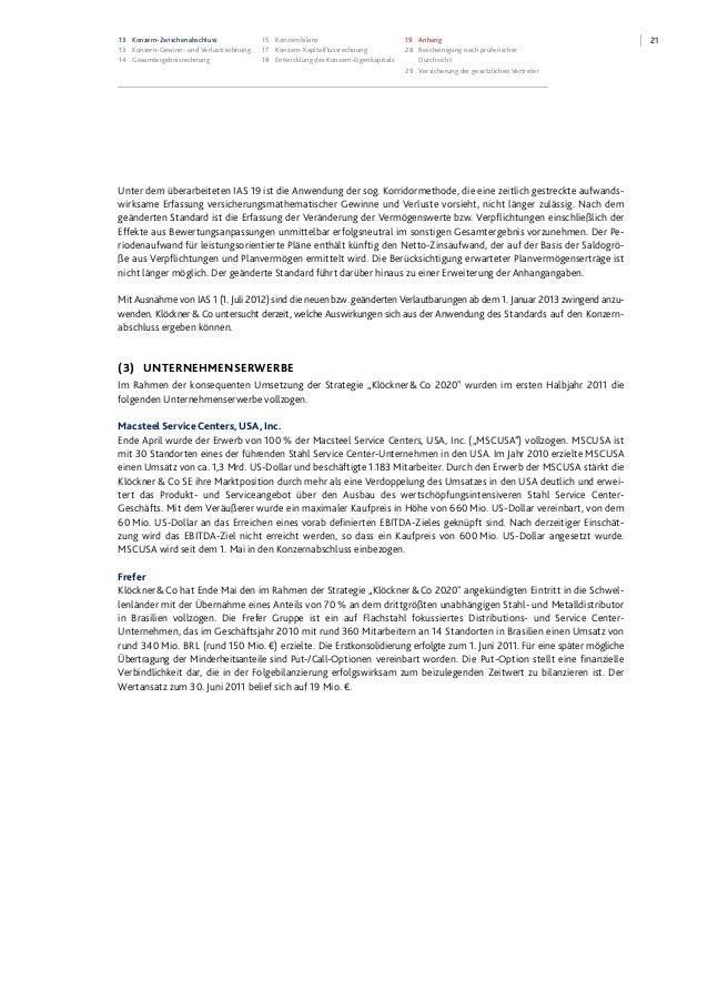 2113 Konzern-Zwischenabschluss 13 Konzern-Gewinn- und Verlustrechnung 14 Gesamtergebnisrechnung 15 Konzernbilanz 17 Konzer...
