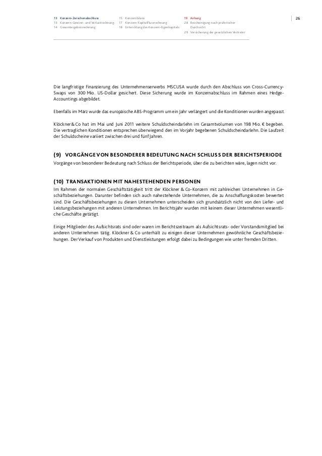 2613 Konzern-Zwischenabschluss 13 Konzern-Gewinn- und Verlustrechnung 14 Gesamtergebnisrechnung 15 Konzernbilanz 17 Konzer...
