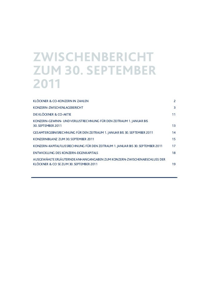 Klöckner & Co - Zwischenbericht zum 30. September 2011 Slide 2