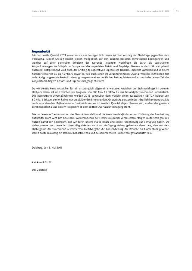 Klöckner & Co SE Klöckner & Co-Aktie 15 KLÖCKNER&CO-AKTIE Stammdaten der Klöckner&Co-Aktie ISIN DE000KC01000 – WKN (Wertpa...