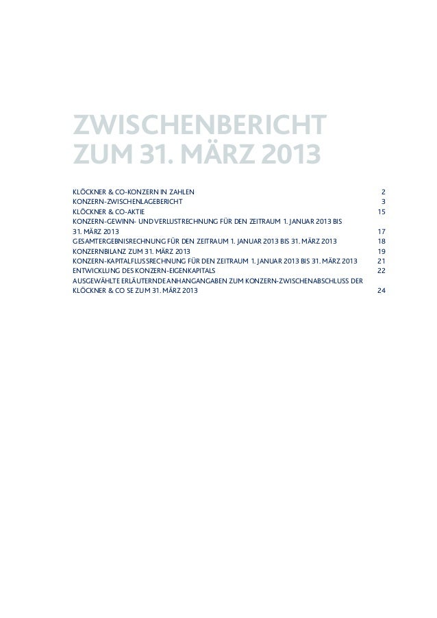 Klöckner & Co - Zwischenbericht zum 31. März 2013 Slide 2