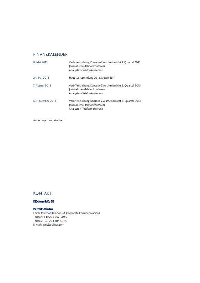 """Disclaimer Dieser Bericht (vor allem das Kapitel """"Prognosebericht"""") enthält zukunftsbezogene Aussagen, die auf aktuellen E..."""