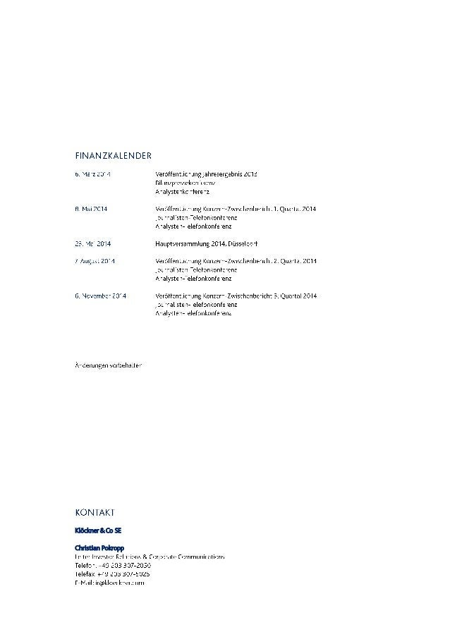 Klöckner & Co SE Christian Pokropp