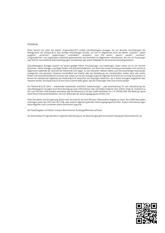 Klöckner & Co - Interim report 2013