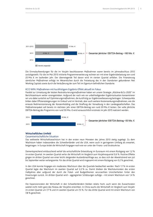 Klöckner & Co SE  Wirtschaftliches Umfeld  Konzern-Zwischenlagebericht 9M 2013  5