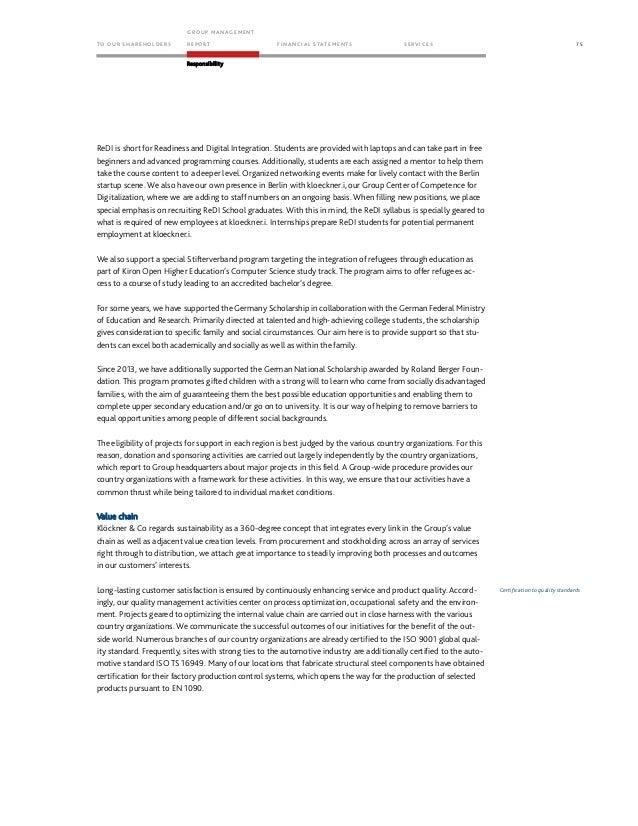 Klöckner & Co SE - Annual Report 2016