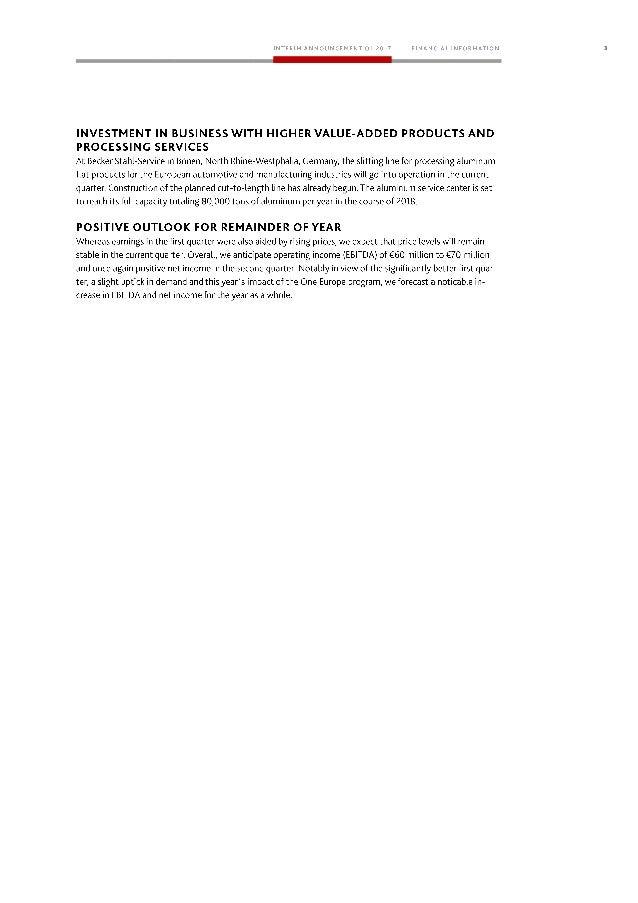 Klöckner & Co SE - Interim Management Statement for Q1 2017 Slide 3
