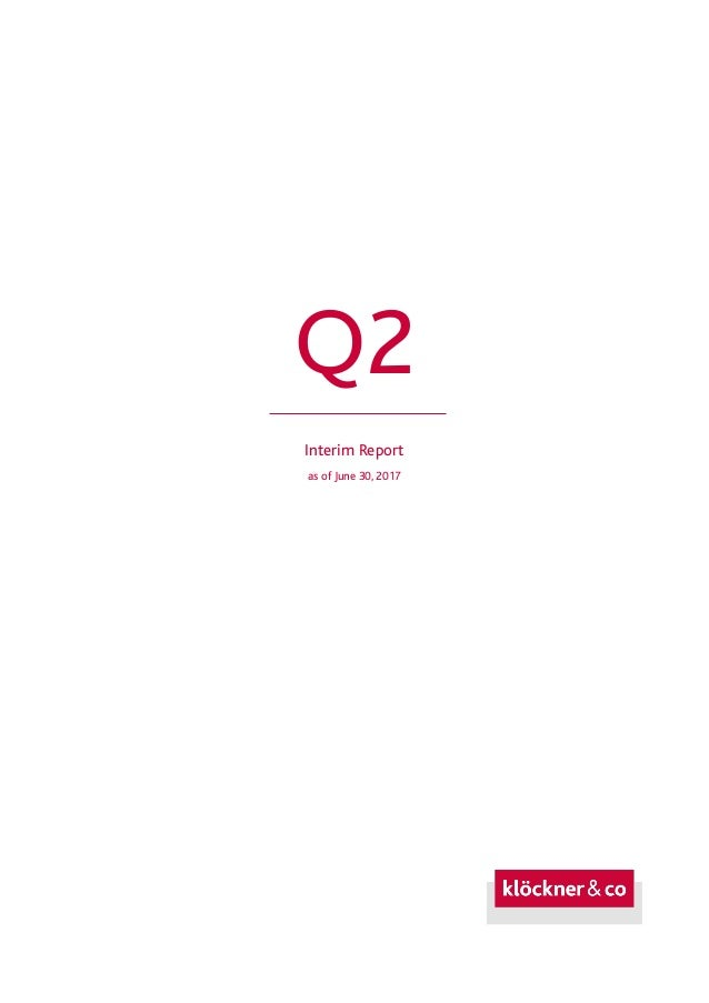 Q2 Interim Report as of June 30, 2017