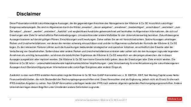 Klöckner & Co SE - Unternehmenspräsentation Slide 2