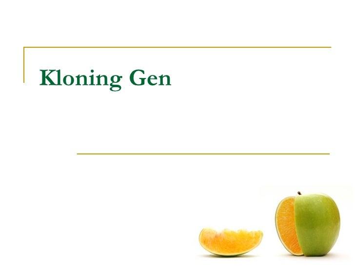 Kloning Gen