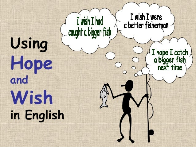 Using Hope and Wish in English