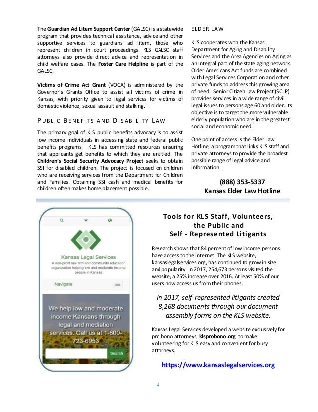 Annual Report Of Kansas Legal Services - Kansas legal forms
