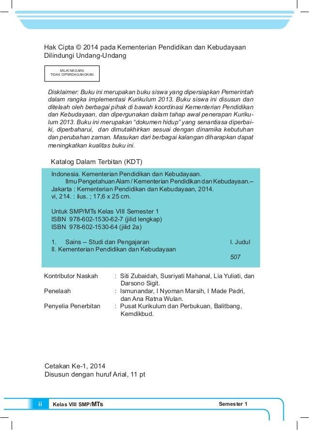 Kls 8 Buku Siswa Ipa Kurikulum 2013