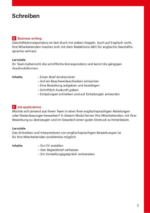 Modulare Englischkurse Für Die Arbeitswelt