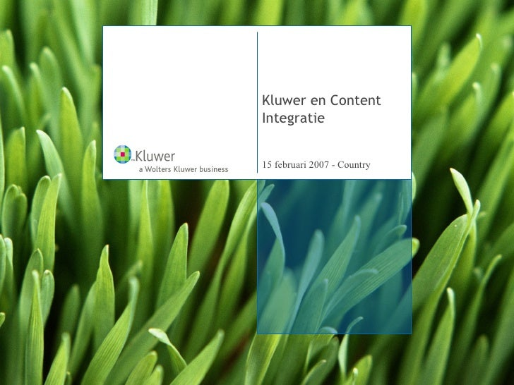 Kluwer en Content Integratie