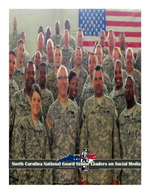 North Carolina National Guard Senior Leaders on Social Media