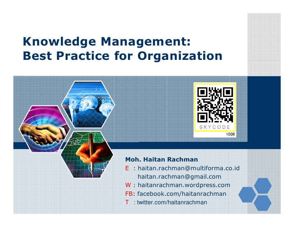 Knowledge Management: Best Practices for Organization