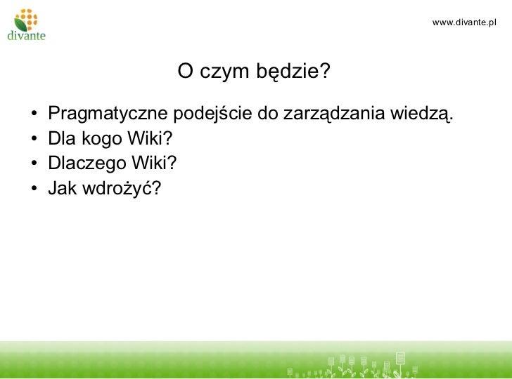 Wiki w firmie Slide 2