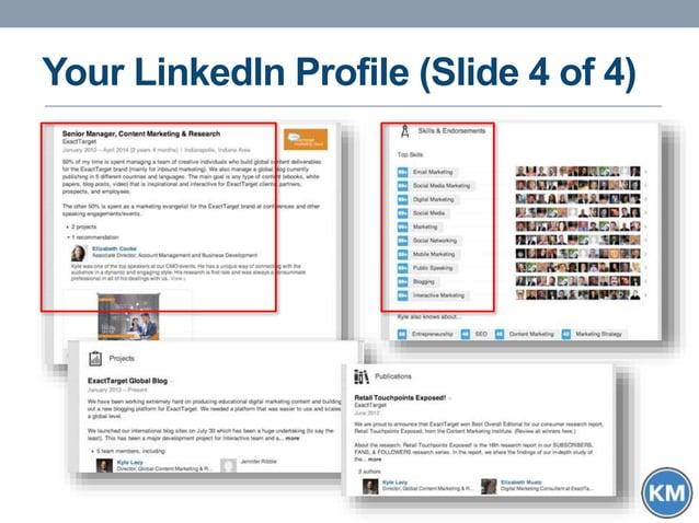 Your LinkedIn Profile (Slide 4 of 4)